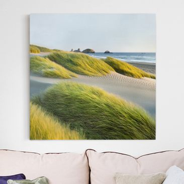 Immagine del prodotto Stampa su tela - Dunes And Grasses At The Sea - Quadrato 1:1