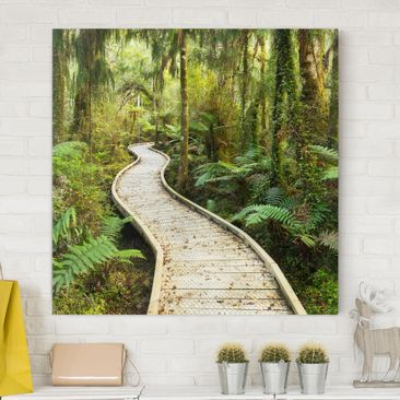 Immagine del prodotto Stampa su tela - Path In The Jungle -...