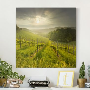 Product picture Canvas Art - Sunrays Vineyard - Square...