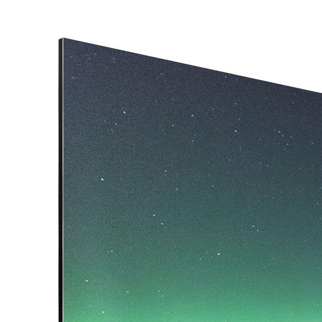 Produktfoto Alu Dibond Bild - Polarlicht in Island -...