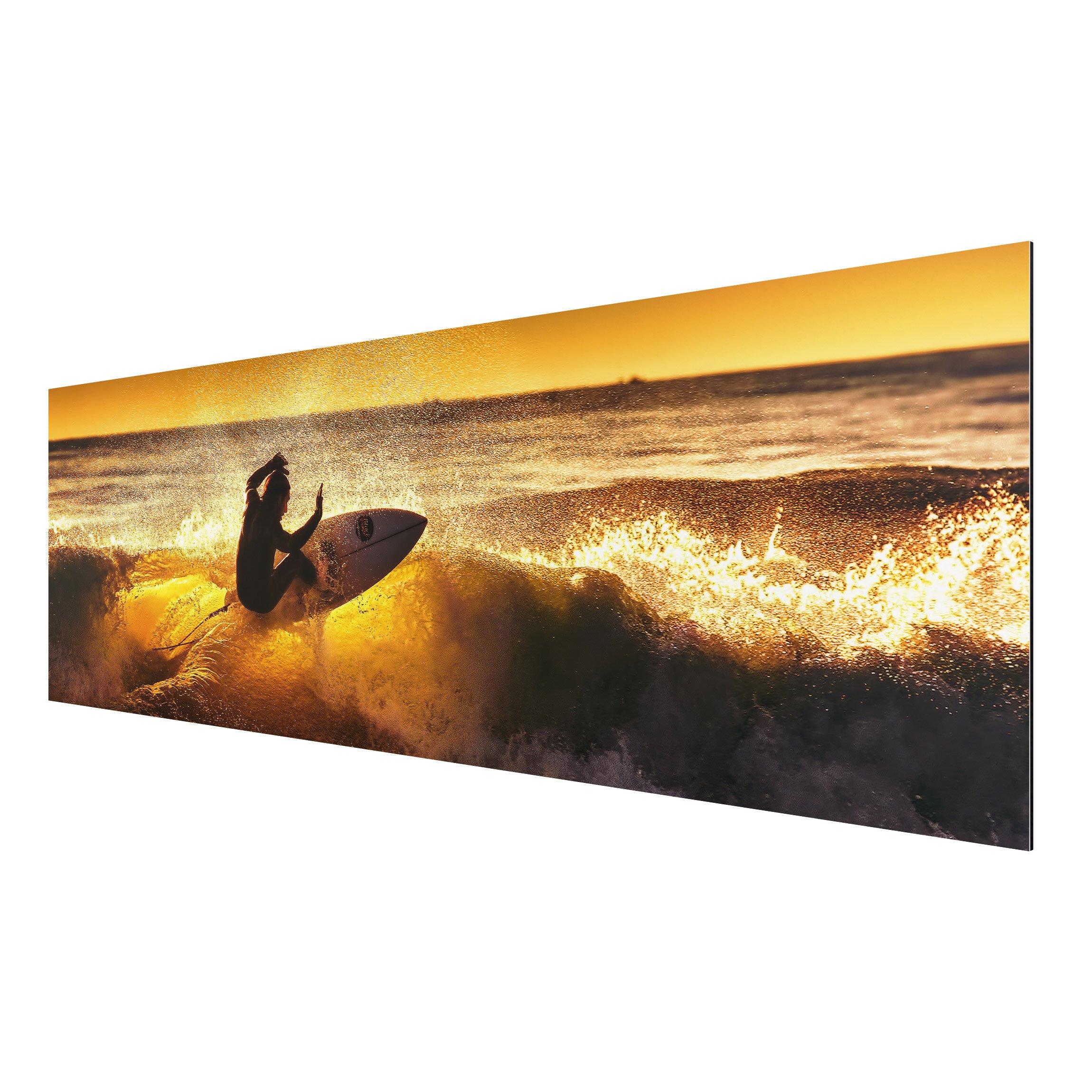 alu dibond bild sun fun and surf panorama quer. Black Bedroom Furniture Sets. Home Design Ideas