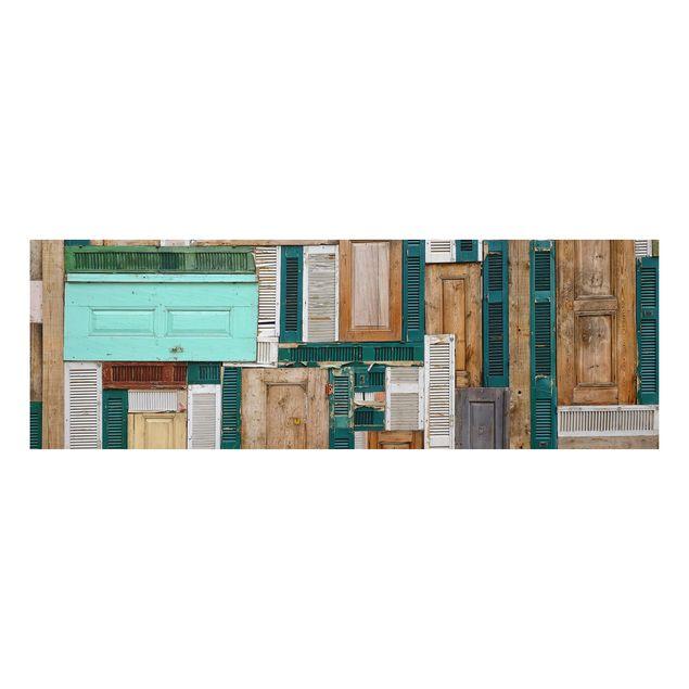 alu dibond bild the doors panorama quer. Black Bedroom Furniture Sets. Home Design Ideas