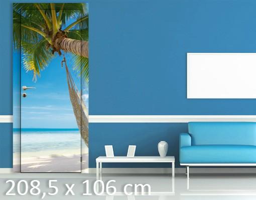 Produktfoto Türtapete Karibik - Relaxing Day - selbstklebend