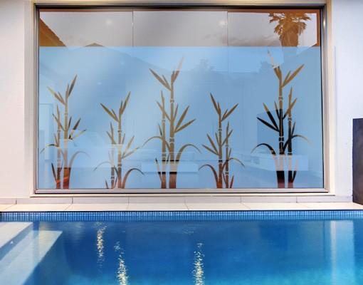 Produktfoto Fensterfolie - Sichtschutzfolie No.8 Bambus I - Milchglasfolie