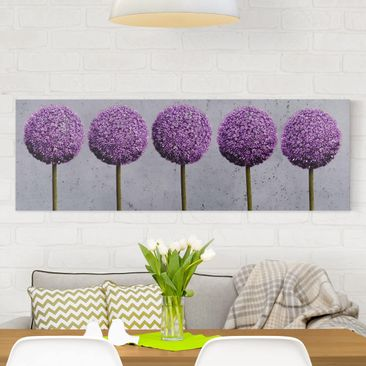 Product picture Canvas Art - Allium Ball Flower -...