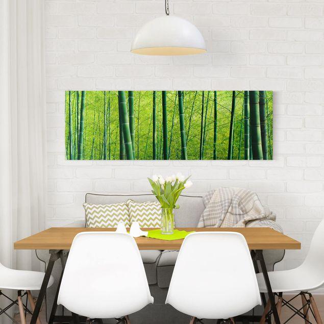 Produktfoto Leinwandbild - Bambuswald No.2 - Panorama Quer, in Wohnambiente, Artikelnummer 207756-WA