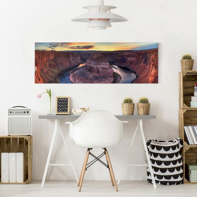 Produktfoto Leinwandbild - Colorado River Glen Canyon - Panorama Quer, in Wohnambiente, Artikelnummer 207799-WA