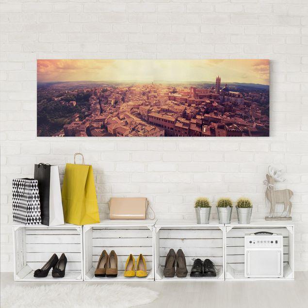 Produktfoto Leinwandbild - Good Morning Siena - Panorama Quer, in Wohnambiente, Artikelnummer 207883-WA