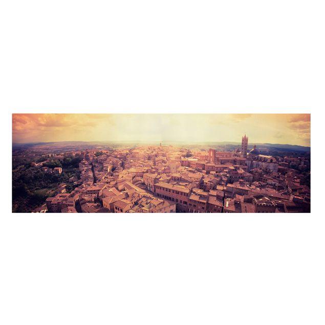 Produktfoto Leinwandbild - Good Morning Siena - Panorama Quer, Frontalansicht, Artikelnummer 207883-FF