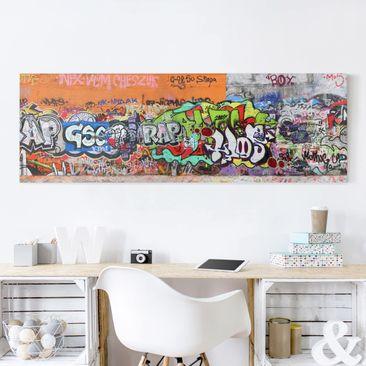 Produktfoto Leinwandbild - Graffiti - Panorama Quer