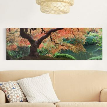 Product picture Canvas Art - Japanese Garden - Panoramic