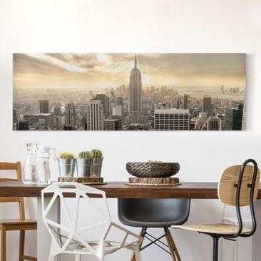 Produktfoto Leinwandbild - Manhattan Dawn - Panorama...