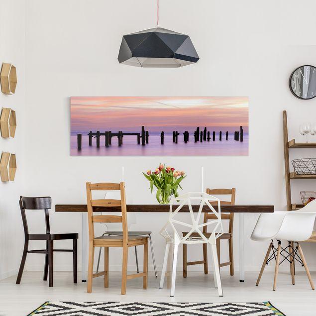 Produktfoto Leinwandbild - Meeresromantik - Panorama Quer, in Wohnambiente, Artikelnummer 207950-WA