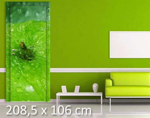 Produktfoto TürTapete Green Apple