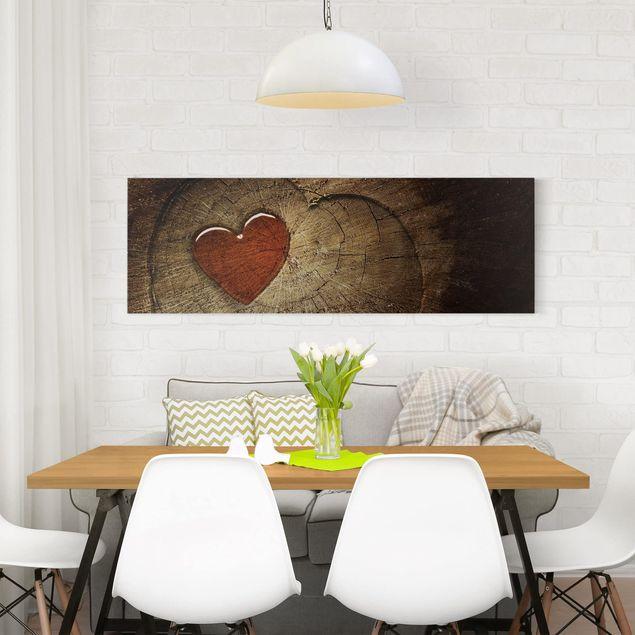Produktfoto Leinwandbild - Natural Love - Panorama Quer, in Wohnambiente, Artikelnummer 207974-WA