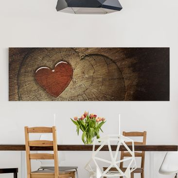 Product picture Canvas Art - Natural Love - Panoramic