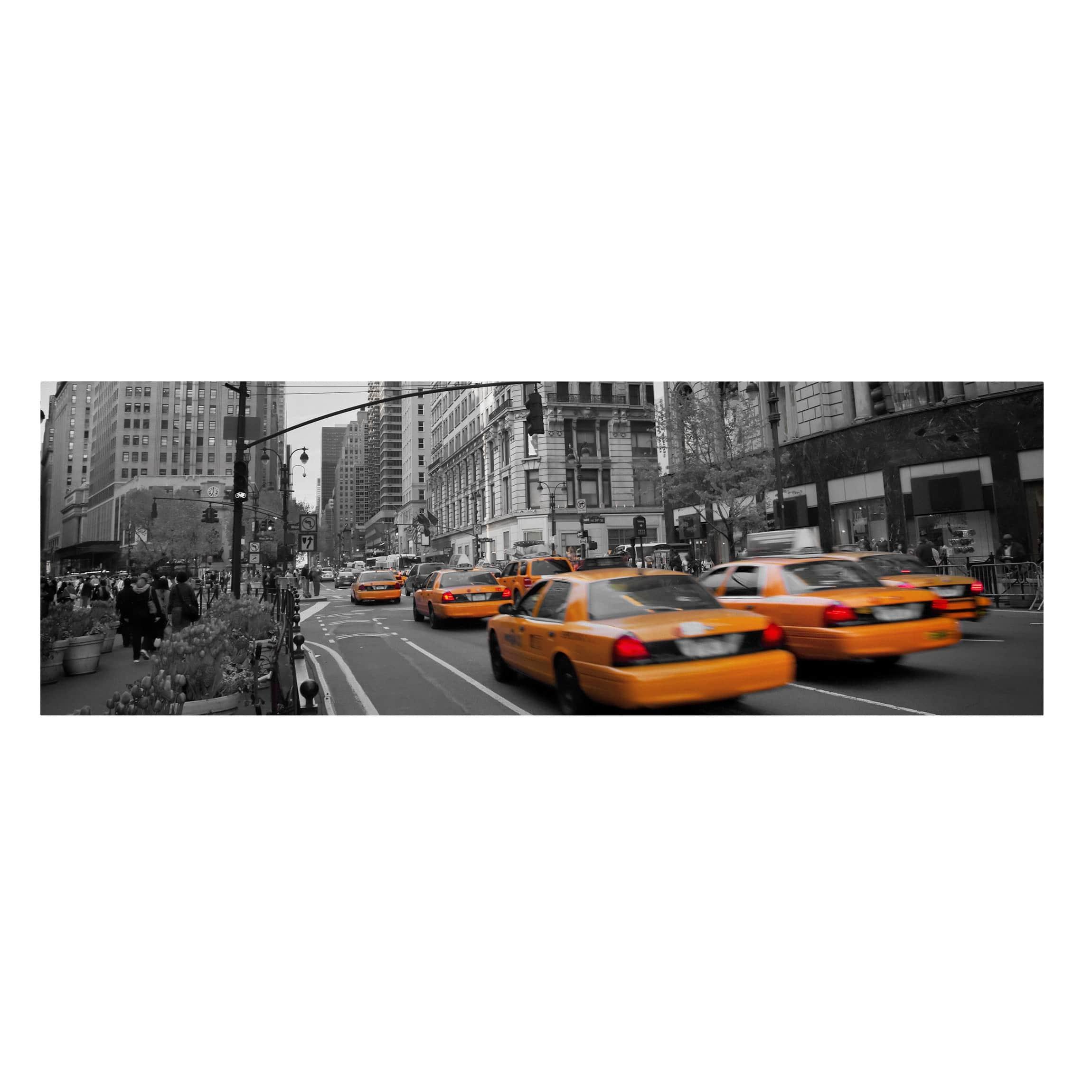 leinwandbild schwarz wei new york new york panoramabild quer. Black Bedroom Furniture Sets. Home Design Ideas