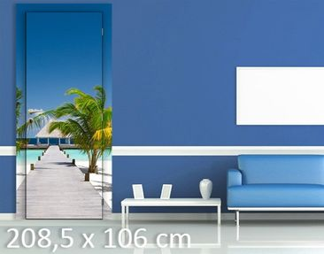 Product picture Door Wall Mural Catwalk To Paradise