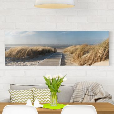 Product picture Canvas Art - Baltic Sea Beach -...