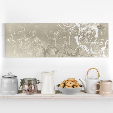 Produktfoto Leinwandbild - Perlmutt Ornament Design...