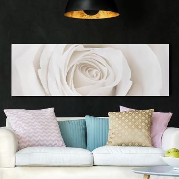 Product picture Canvas Art - Pretty White Rose -...