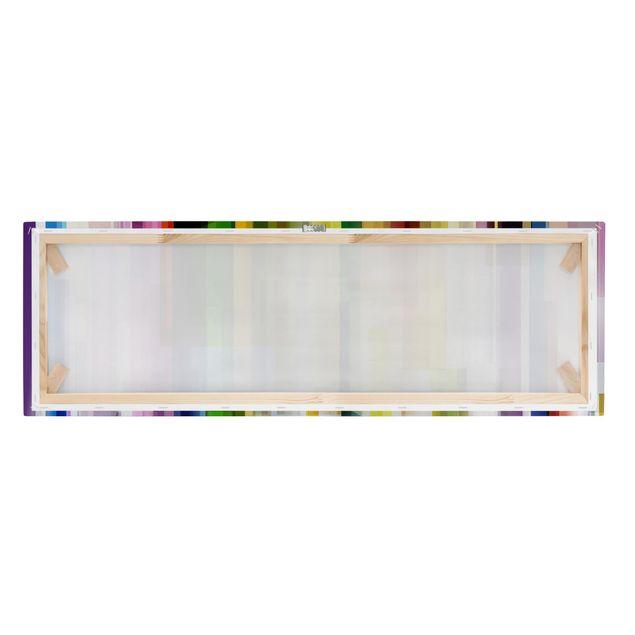 Produktfoto Leinwandbild - Rainbow Cubes - Panorama Quer, Keilrahmen Rückseite, Artikelnummer 208037-FB