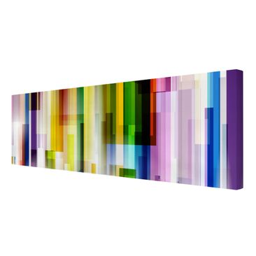 Product picture Canvas Art - Rainbow Cubes - Panoramic