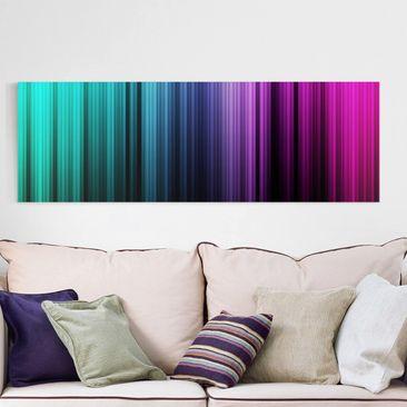 Produktfoto Leinwandbild - Rainbow Display - Panorama Quer, vergrößerte Ansicht in Wohnambiente, Artikelnummer 208038-XWA