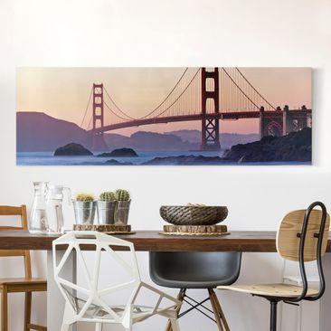 Produktfoto Leinwandbild - San Francisco Romance - Panorama Quer, vergrößerte Ansicht in Wohnambiente, Artikelnummer 208066-XWA