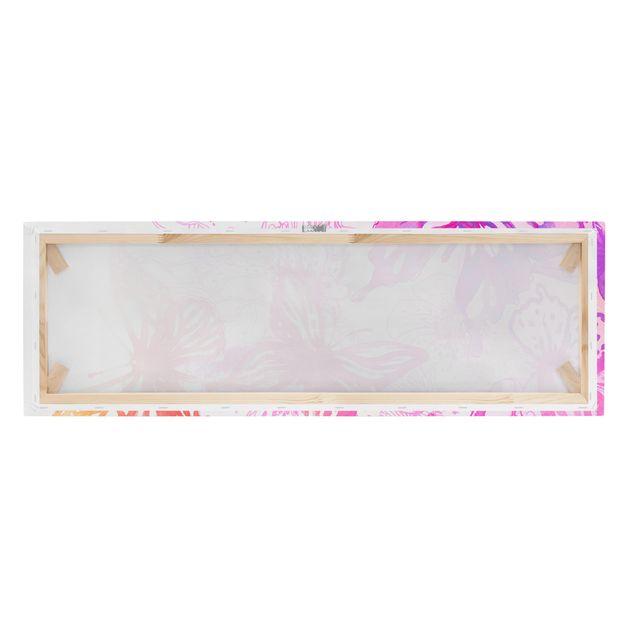 Produktfoto Leinwandbild - Schmetterlingstraum - Panorama Quer, Keilrahmen Rückseite, Artikelnummer 208073-FB