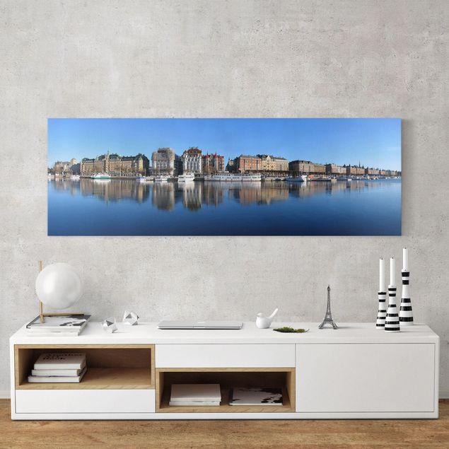 Produktfoto Leinwandbild - Stockholm - Panorama Quer