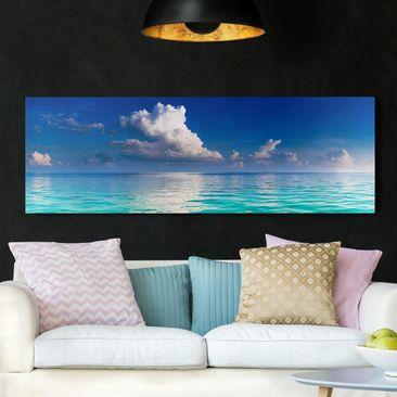Produktfoto Leinwandbild - Türkise Lagune - Panorama Quer, vergrößerte Ansicht in Wohnambiente, Artikelnummer 208142-XWA