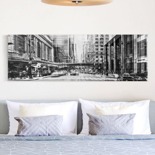Leinwandbild nyc urban schwarz wei panoramabild quer - Panoramabild schlafzimmer ...