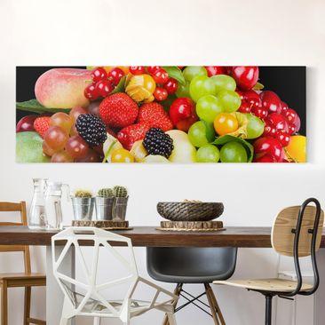 Produktfoto Leinwandbild - Obst Mix - Panorama Quer