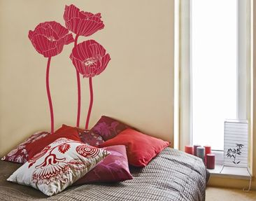 Product picture Wall Decal No.UL87 Group Of Poppies