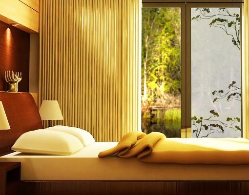 Produktfoto Fensterfolie - Sichtschutzfolie No.113 Japanische Bäume III - Milchglasfolie