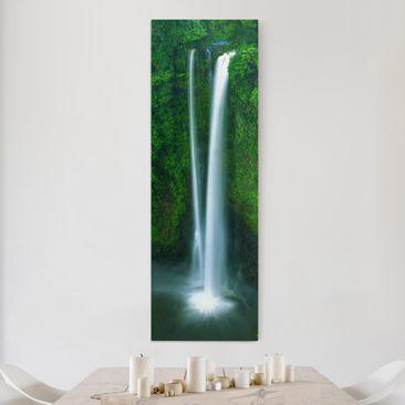 Produktfoto Leinwandbild - Paradiesischer Wasserfall...