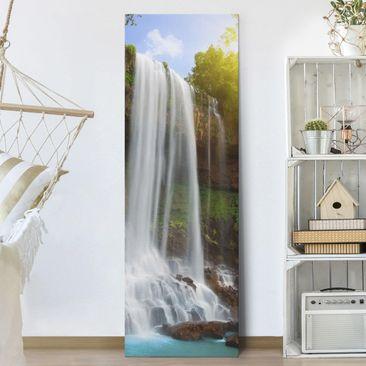 Produktfoto Leinwandbild - Waterfalls - Panorama...