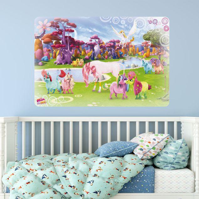 Produktfoto Selbstklebendes Wandbild Mia and Me - Lyria und Onchao mit den Ponycorns