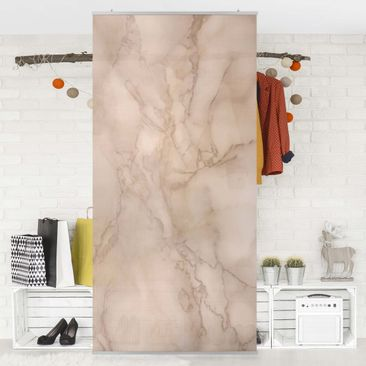 Product picture Panel Curtain - Marble look gray brown -...