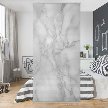 Product picture Panel Curtain - Marble look black white...