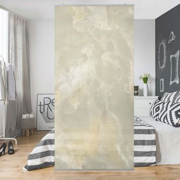Product picture Panel Curtain - Onyx marble cream -...