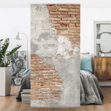 Produktfoto Raumteiler - Shabby Backstein Wand -...