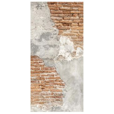 Product picture Panel Curtain - Shabby Brick Wall -...