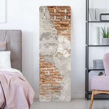 Product picture Coat Rack - Shabby Brick Wall -...