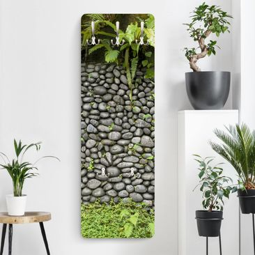 Produktfoto Garderobe - Steinwand Mit Pflanzen