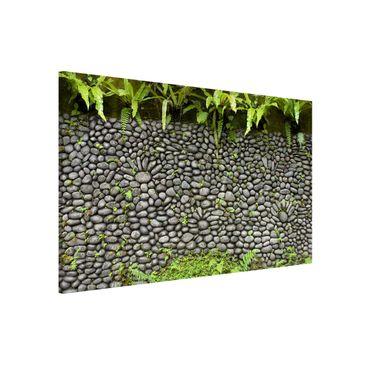 Immagine del prodotto Lavagna magnetica - Stone Wall With Plants - Formato orizzontale 2:3