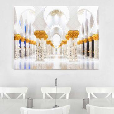 Produktfoto Glasbild - Moschee in Gold - Quer 3:4