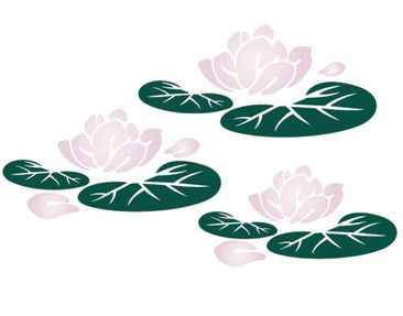 Product picture Window Sticker no.CG33 Water Lilies