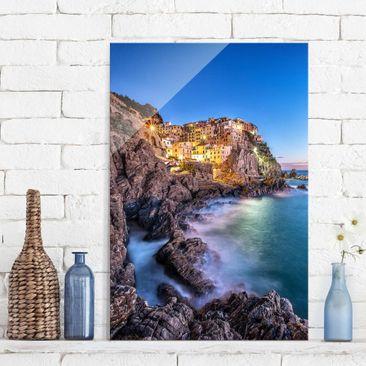 Produktfoto Glasbild - Manarola Cinque Terre - Hoch...